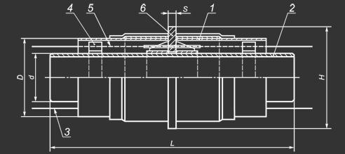 Схема неподвижной опоры в ППУ изоляции
