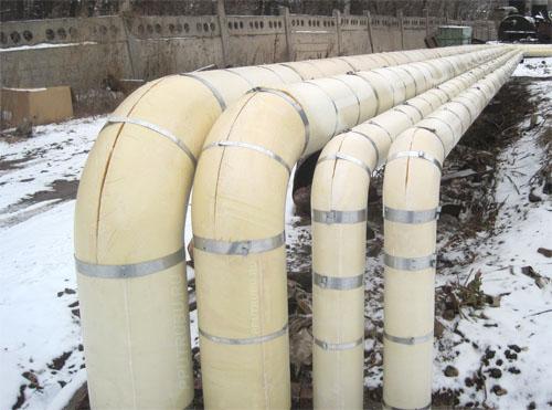 Теплоизоляция труб скорлупами ППУ